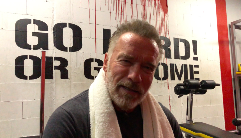 Arnold Schwarzenegger dishes out the life advice