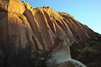 <p>Sunshine begins to flood the canyon walls at Capitol Reef National Park, Utah // February 1, 2013</p>