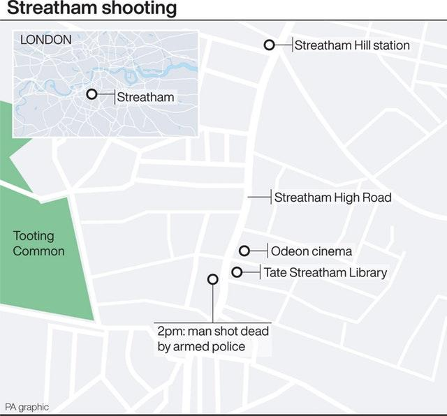 Locates shooting in Streatham