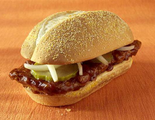 "The McRib isn't offered year-round, so people celebrate when it comes back on menus. The McRib is not a rib sandwich but a boneless pork patty molded into the shape of ribs, and it has inspired nearly 300 Facebook groups and an enthusiast who created a ""McRib Locator"" to track sightings of the sandwich."