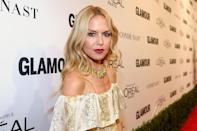<p>Zoe's son Kaius Jagger arrived when she was 42 [Photo: Getty] </p>