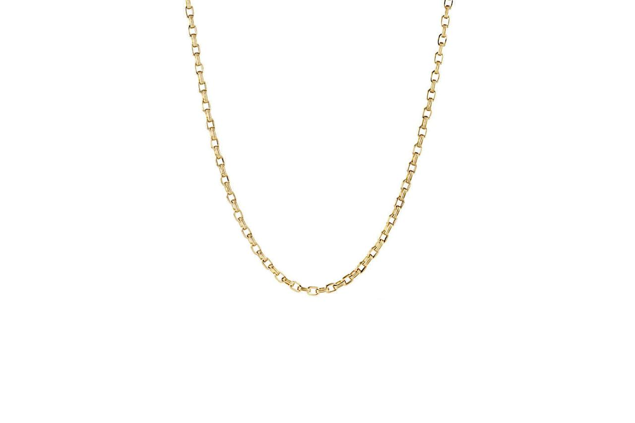"<p>$7,900, buy now at <a rel=""nofollow"" href=""http://www.davidyurman.com/content/david-yurman/en_us/products/men/necklaces-and-tags/chain-necklace-in-18k-gold-n15577m88.html?mbid=synd_yahoostyle"">davidyurman.com</a></p>"