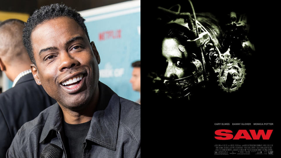 "The news that Chris Rock was crafting the story for a <em>Saw</em> movie surprised just about everyone earlier this year. But it has happened, and it won't be long until we see it. <a href=""https://uk.movies.yahoo.com/samuel-l-jackson-star-chris-160230139.html"" data-ylk=""slk:Samuel L. Jackson and Roc;outcm:mb_qualified_link;_E:mb_qualified_link;ct:story;"" class=""link rapid-noclick-resp yahoo-link"">Samuel L. Jackson and Roc</a>k lead the cast, with franchise veteran Darren Lynn Bousman behind the camera. (Credit: Gilbert Carrasquillo/FilmMagic/Lionsgate)"