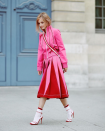 <p>Pink and red seemed to be the colourway of the season, after all it's definitely one way to make a statement. <em>[Photo: The Fashion Guitar/ Instagram]</em> </p>