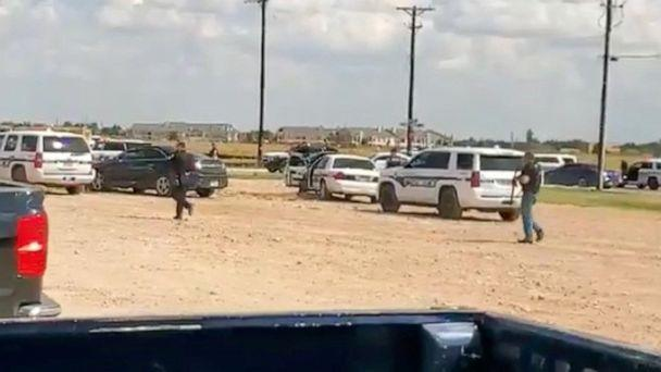 PHOTO: Police arrive at Cinergy Odessa cinema following a shooting in Odessa, Texas, in this still image taken from a social media video posted on Aug. 31, 2019. (Mario A Leal via Reuters)