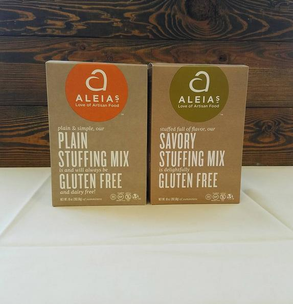 """<p>With a good balance of spices and seasonings, Aleias's savory stuffing mix is a dynamic and hearty addition to your Thanksgiving spread. Bread cubes made from a blend of brown and white rice flour keep it flavorful and Celiac-friendly.</p><p>Buy it <a rel=""""nofollow noopener"""" href=""""http://click.linksynergy.com/fs-bin/click?id=93xLBvPhAeE&subid=0&offerid=437821.1&type=10&tmpid=20263&RD_PARM1=https%3A%2F%2Fjet.com%2Fproduct%2Fdetail%2F642d88ec234c4285ae973eb964fffac2%3Fjcmp=pla%3Aggl%3Aa_nj_cons_gen_food_beverages_tobacco_a2_b1%3Afood_items_prepared_foods_prepared_appetizers_side_dishes_a2_other%3Ana%3APLA_648439113_39625226224_aud-155003204480%3Apla-156520660380%3Ana%3Ana%3Ana%3A2%2526code=PLA15%2526gclid=CPi3ytCRmtACFUKbNwodokYM3A%2526gclsrc=ds"""" target=""""_blank"""" data-ylk=""""slk:here"""" class=""""link rapid-noclick-resp"""">here</a> for $40/6 pack.</p>"""