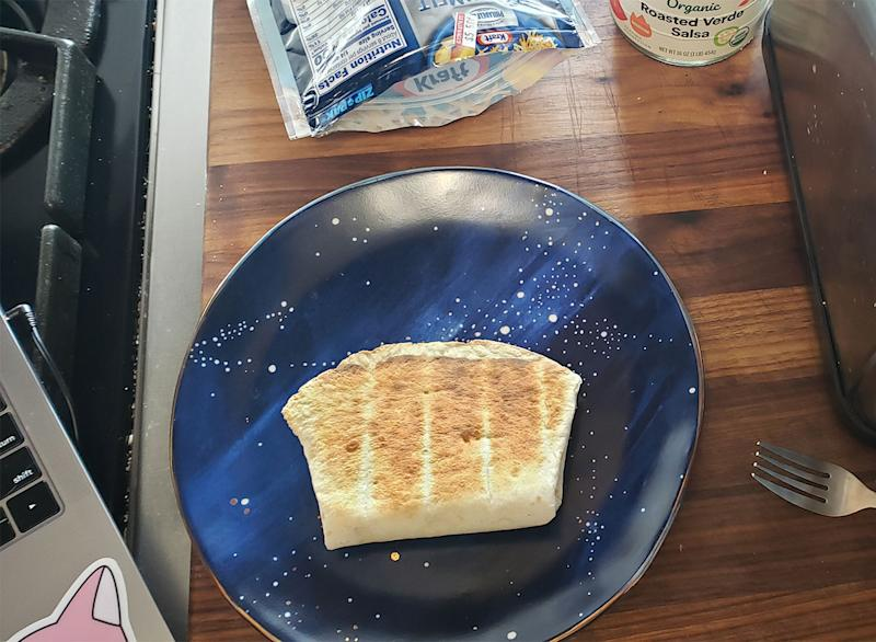 toaster quesadilla