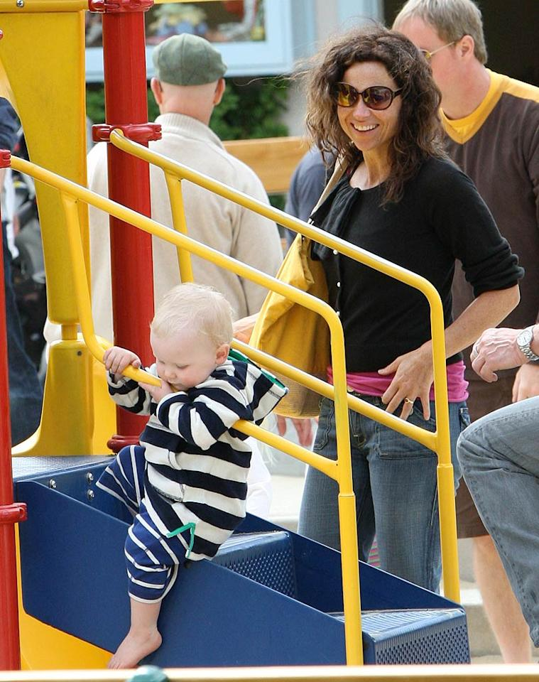 """How cute is Minnie Driver's 20-month-old son Henry? Although the actress has said that being a single mother is like """"an insane earthquake,"""" she's been quick to add that """"there's no amount of hassle that could be bigger than my love of Henry."""" Mike/<a href=""""http://www.splashnewsonline.com"""" target=""""new"""">Splash News</a> - May 9, 2010"""
