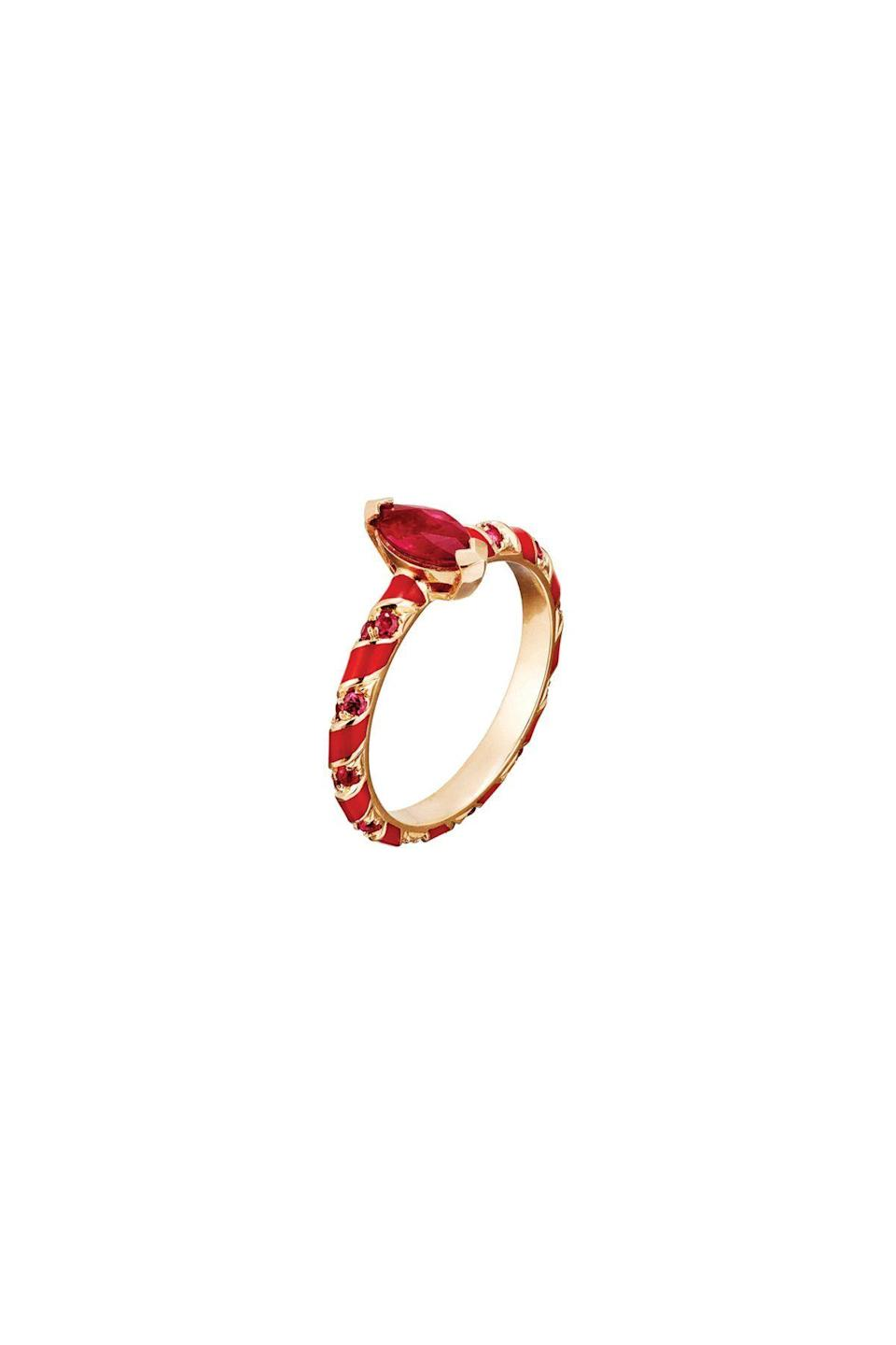"""<p><strong>Alice Cicolini</strong></p><p>objetdemotion.com</p><p><strong>$2693.00</strong></p><p><a href=""""https://objetdemotion.com/jewels/candy-pave-ring/"""" rel=""""nofollow noopener"""" target=""""_blank"""" data-ylk=""""slk:Shop Now"""" class=""""link rapid-noclick-resp"""">Shop Now</a></p><p>All of Alice Cicolini's jewels are handmade in India by Jaipuri meenakari trained in the centuries-old enamel traditions of Persia. Fun, playful designs are her signature (see: this ring). Just be warned—her pieces, like candy, are also irresistibly collectible.</p>"""