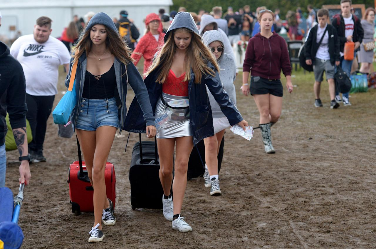 <p>Since when did the weather put off festival-goers? [Picture: SWNS] </p>