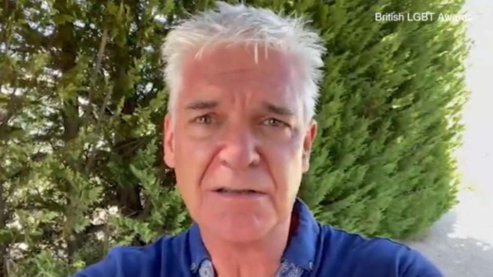 Phillip Schofield delivered a tearful acceptance speech after he was presented with a special recognition award. (British LGBT Awards)
