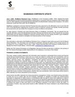 ShaMaran Corporate Update (CNW Group/ShaMaran Petroleum Corp.)