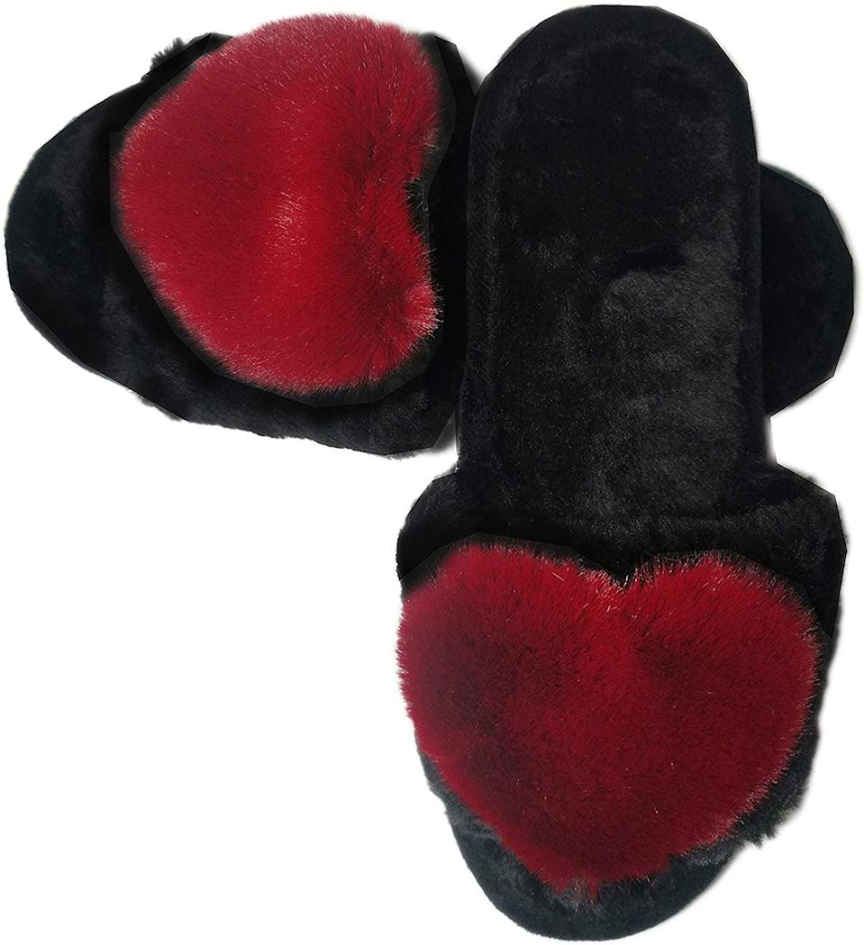<p>These <span>Fuzzy Fluffy Furry Fur Slippers</span> ($13) will be our Valentine's Day go-to.</p>