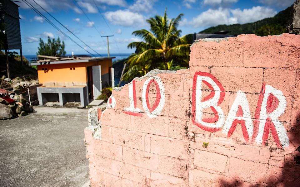 Damage from Hurricane Maria is still visible - Mark Stratton