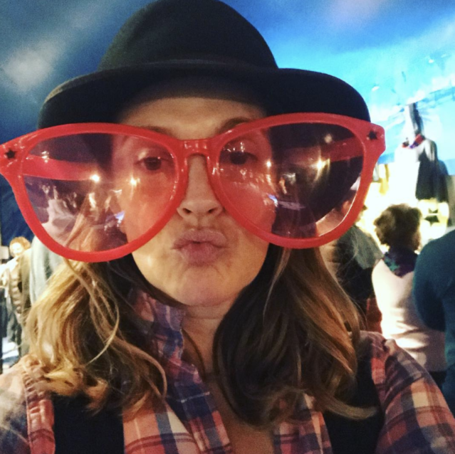 "<p>The fun-loving mom clowned around at the Big Apple Circus on Monday. ""When you take your kids to the circus and you don't know where their joy ends and yours begins, "" she wrote. (Photo: <a href=""https://www.instagram.com/p/Bbve995BndF/?taken-by=drewbarrymore"" rel=""nofollow noopener"" target=""_blank"" data-ylk=""slk:Drew Barrymore via Instagram"" class=""link rapid-noclick-resp"">Drew Barrymore via Instagram</a>) </p>"