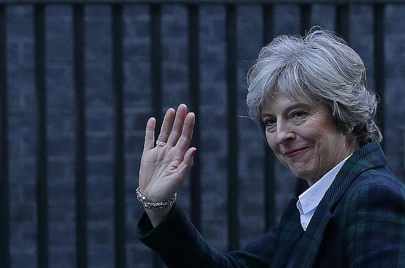 British Prime Minister Theresa May will formally trigger the two-year process of Britain's departure from the EU on March 29, 2017 (AFP Photo/Daniel LEAL-OLIVAS)