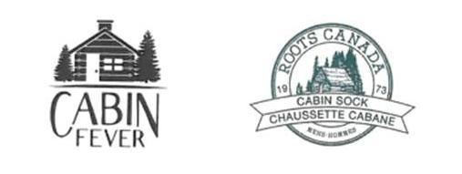 The two cabin logos at the heart of the trademark battle. Roots argued YM's logo (left) was similar to their own trademark.