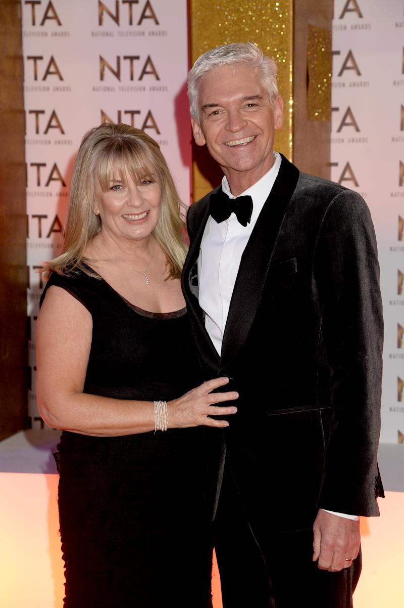 Stephanie Lowe and Phillip Schofield attend the National Television Awards 2020 at The O2 Arena on January 28, 2020 in London, England. (Photo by Dave J Hogan/Getty Images)