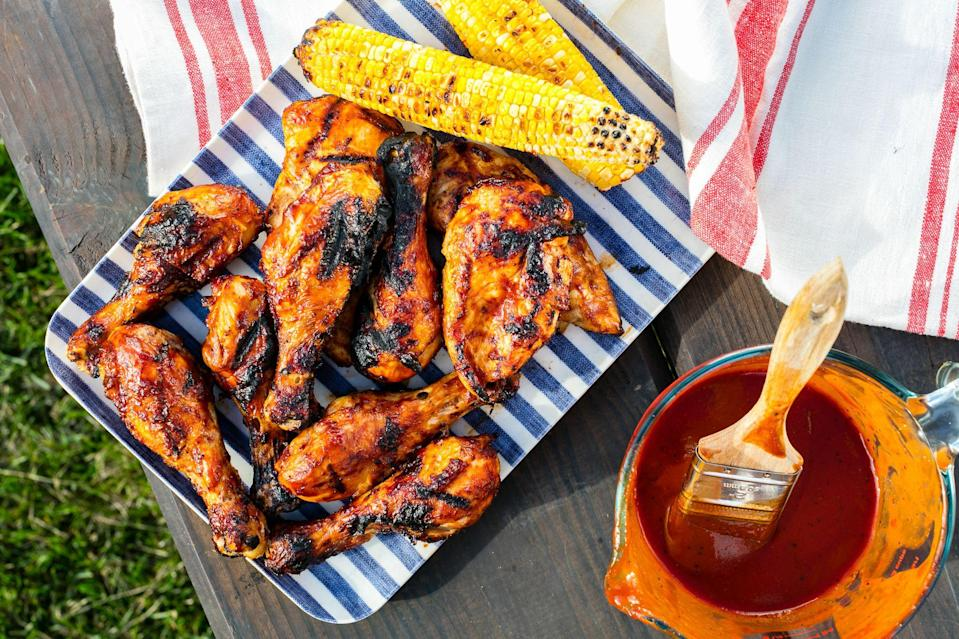 """<p>Need new ideas for how to serve chicken from the grill? We've got you covered. With a few easy marinades, fruit, and spices, you'll happily be eating grilled chicken all summer long. For even more grilling recipes, check out our <a href=""""https://www.delish.com/entertaining/g2188/bbq-recipes/"""" rel=""""nofollow noopener"""" target=""""_blank"""" data-ylk=""""slk:grilling headquarters"""" class=""""link rapid-noclick-resp"""">grilling headquarters</a> and try some of these <a href=""""https://www.delish.com/cooking/recipe-ideas/g2729/best-burger-recipes/"""" rel=""""nofollow noopener"""" target=""""_blank"""" data-ylk=""""slk:amazing burger recipes"""" class=""""link rapid-noclick-resp"""">amazing burger recipes</a>.</p>"""