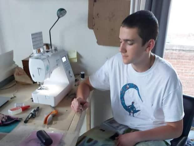Harsent says he plans on spending more time after school developing his fashion upcycling brand MoonRoom.