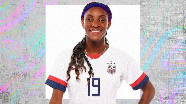 PHOTO: Crystal Dunn (Getty Images, ABC News Photo Illustration)