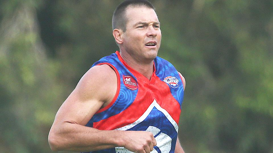 Ben Cousins, pictured here in action for the Queens Park Bulldogs in the Metro Football League in Perth.