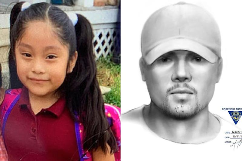 Dulce Alavez and a sketch of the suspect | FBI; New Jersey State Police