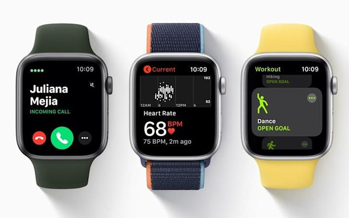 The Apple Watch Series 6 contains a new health sensor which can measure blood oxygen levels in 15 seconds - Apple