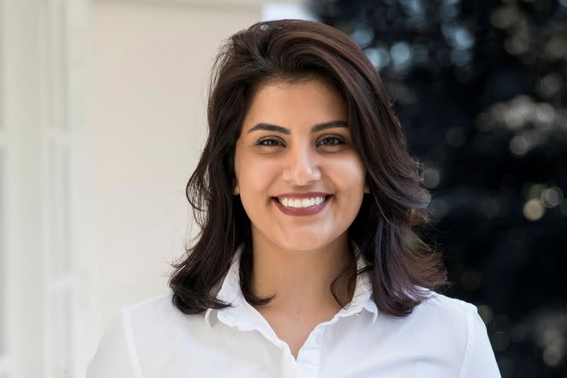 FILE PHOTO: Saudi women's rights activist Loujain al-Hathloul is seen in this undated handout picture
