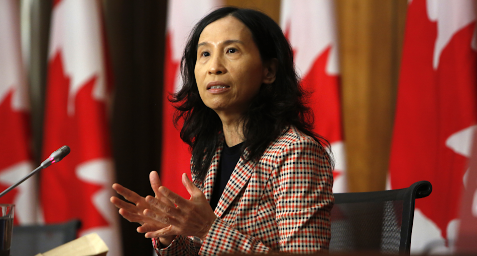 Theresa Tam, Canada's chief public health officer now recommends 3-layer non-medical masks (Getty Images)