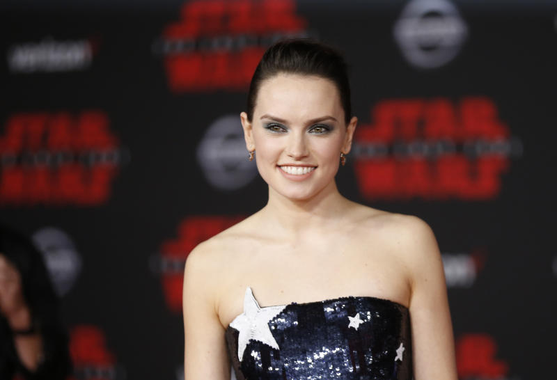 "World Premiere of ""Star Wars: The Last Jedi"" – Arrivals – Los Angeles, California, U.S., 09/12/2017 – Actress Daisy Ridley poses. REUTERS/Danny Moloshok"