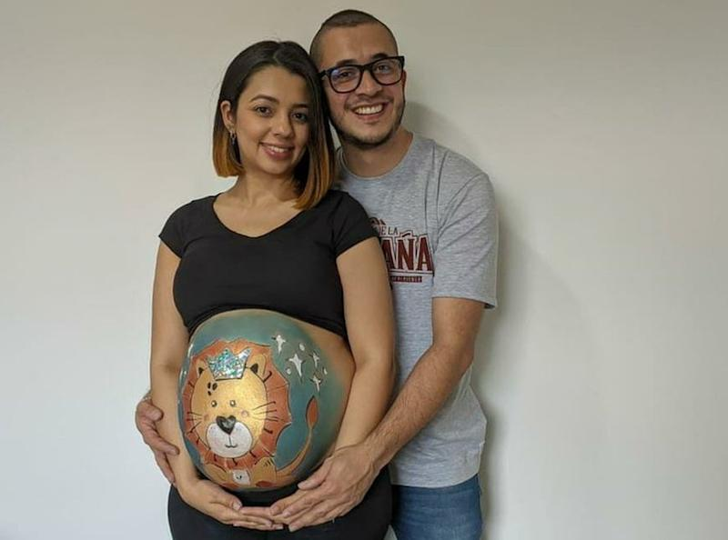 A photo of Daniel Guzmán and his wife