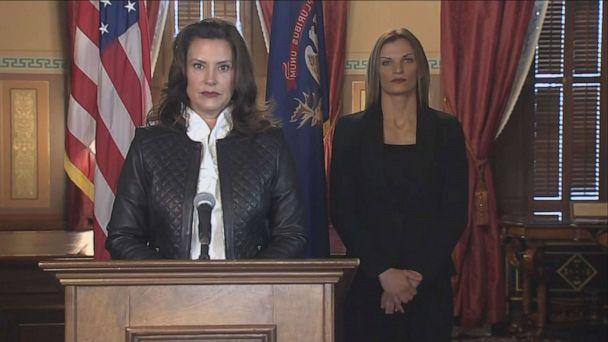 PHOTO: In this screen grab taken from video, Michigan Governor Gretchen Whitmer speaks at a press conference, Oct. 8, 2020. (WXYZ)