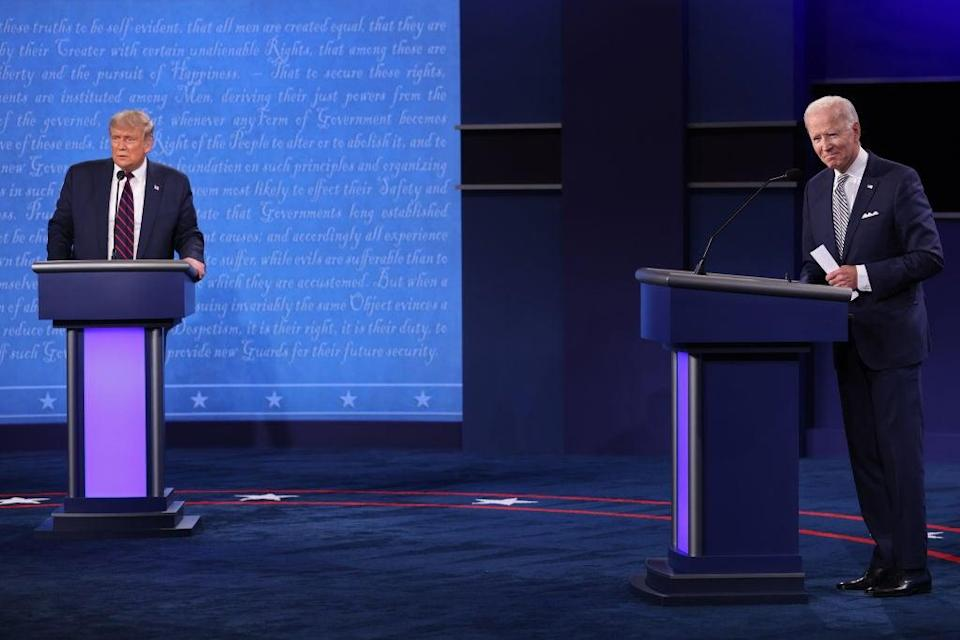 President and Mr Biden trade blows during first debate (Getty Images)