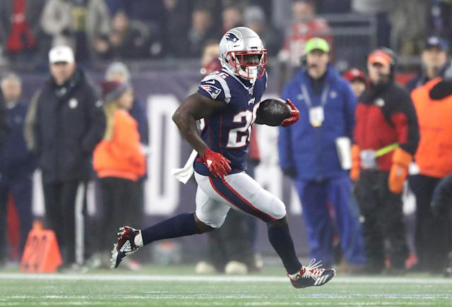 Sony Michel is heading into a crucial Year 3 for the Patriots. (Photo by Elsa/Getty Images)