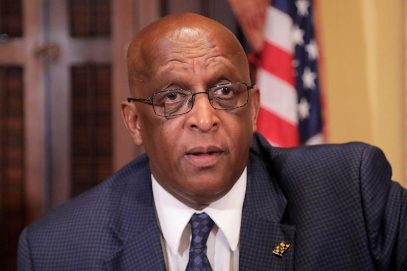 "Baltimore Mayor Bernard ""Jack"" Young is urging President Donald Trump to cancel his scheduled Memorial Day visit to the city. (Photo: ASSOCIATED PRESS)"