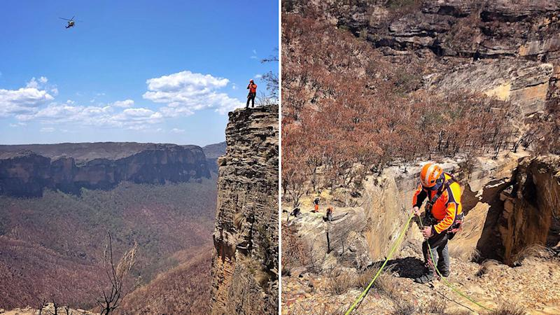 NSW SES volunteers helped in the search for Mattia Fiaschini.