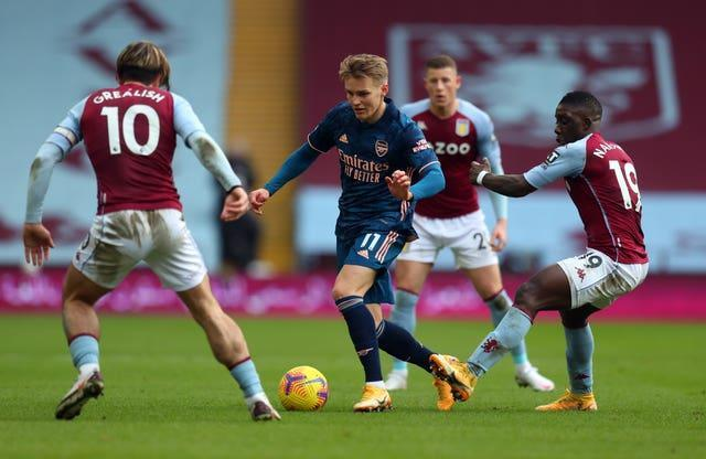 Martin Odegaard was a second-half substitute for Arsenal