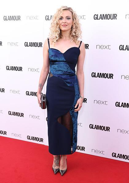 <p>Fearne looked incredible in this velvet detailed dress and we LOVED her big curly hair. <i>[Photo: Mike Marsland/Mike Marsland/WireImage]</i></p>