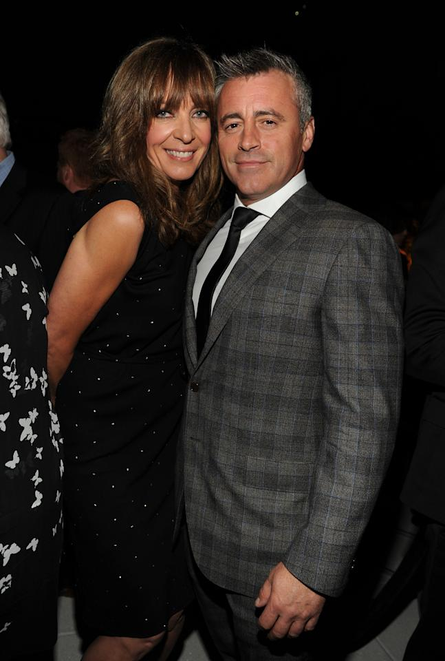 Nominees Allison Janney, left, and Matt LeBlanc attend the Television Academy's 66th Emmy Awards Performance Nominee Reception at the Pacific Design Center on Saturday, Aug. 23, 2014, in West Hollywood, Calif. (Photo by Frank Micelotta/Invision for the Television Academy/AP Images)