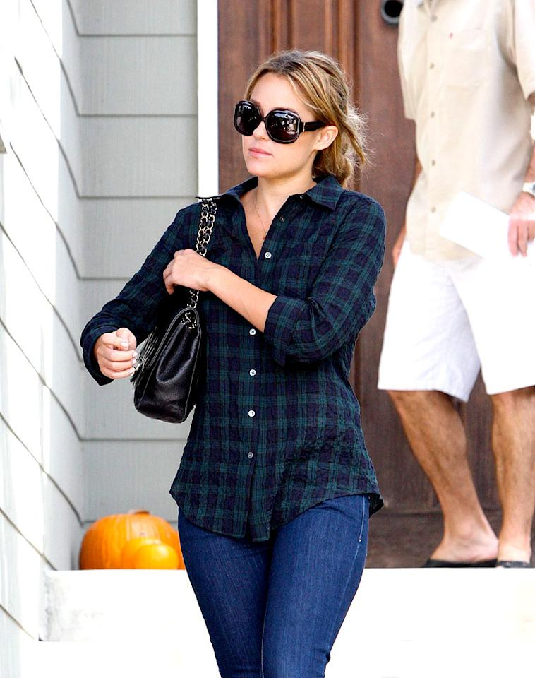 """""""Hills"""" hottie Lauren Conrad rocks this season's must-have pattern - plaid - along with a pair of hip-hugging jeans while out and about in Los Angeles. APG/<a href=""""http://www.x17online.com"""" target=""""new"""">X17 Online</a> - October 10, 2008"""