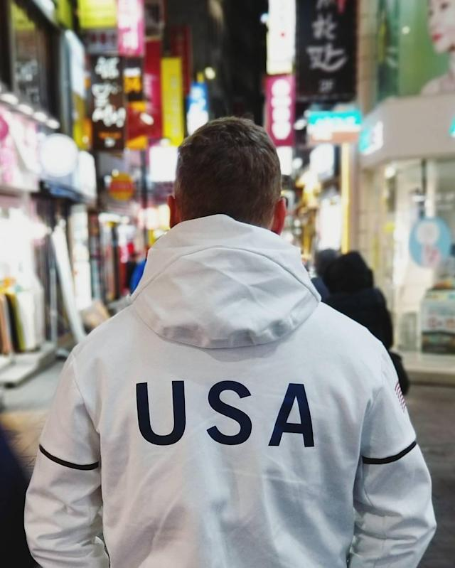 <p>Gus Kenworthy USA, freestyle Skiing<br> guskenworthy: I love my country. #TeamUSA<br> (Photo via Instagram/guskenworthy) </p>