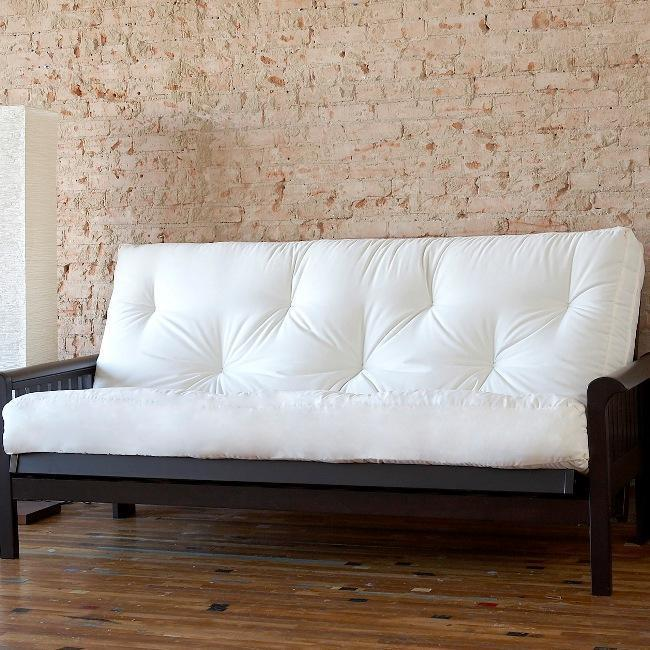 "<div class=""caption-credit""> Photo by: overstock.com</div><b>Out: Fold-Out Futons.</b> Remember when two people were needed to transform this hulking half-bed/half couch into something more comfortable?"