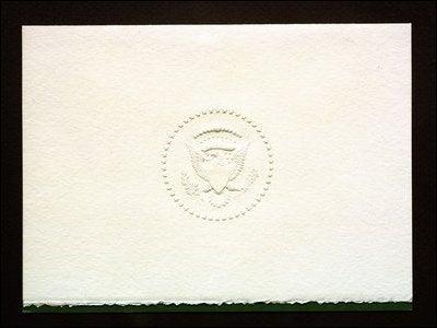 <p>The stark white Christmas card sent by President Lyndon B Johnson in 1963, just a month after John F Kennedy was assassinated.</p>The White House