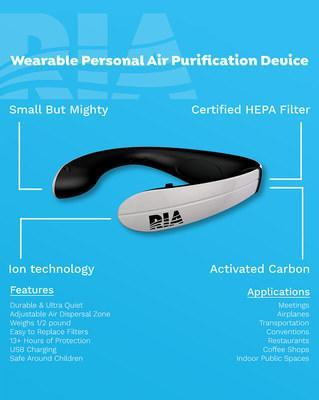 Mask up, socially distance, and hold the air we breathe to a higher standard. RIA is your personal Aromafication™ , go-anywhere clean air safety zone. Packed with HEPA to filter and negative ionization to purify, RIA adds a critical layer of personal protection between toxic air and your nose and mouth. Coupled with the added wellness benefits of aromatherapy, you're in complete control of your personal air quality and experience. With RIA you don't have to share your air, just enjoy it.