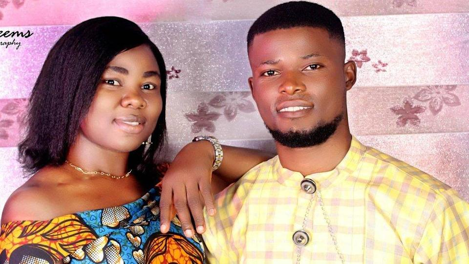 Queen Nwazuo and her fiancé Monday Bakor