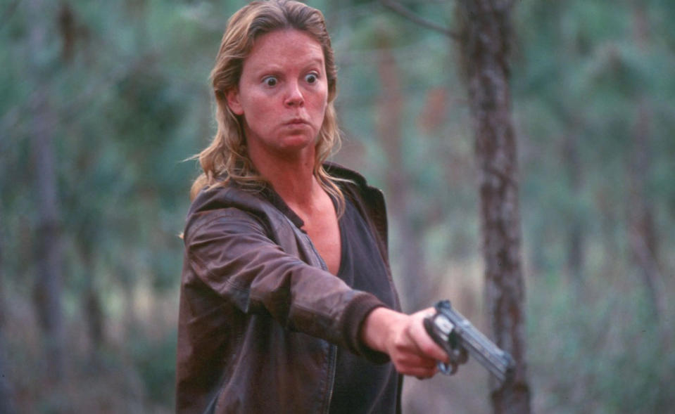 Charlize Theron as Aileen Wuornos in 'Monster'. (Credit: Newmarket Films)