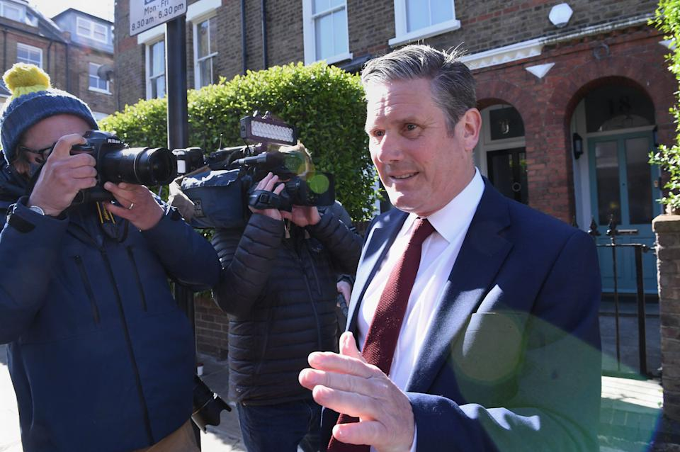 Labour leader Sir Keir Starmer leaving his north London home following the result in the Hartlepool parliamentary by-election. Picture date: Friday May 7, 2021. (Photo by Stefan Rousseau/PA Images via Getty Images) (Photo: Stefan Rousseau - PA Images via Getty Images)