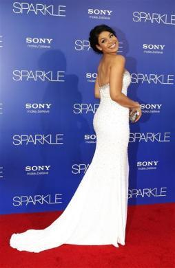 """Jordin Sparks arrives at the premiere of """"Sparkle"""" in Hollywood, California August 16, 2012."""