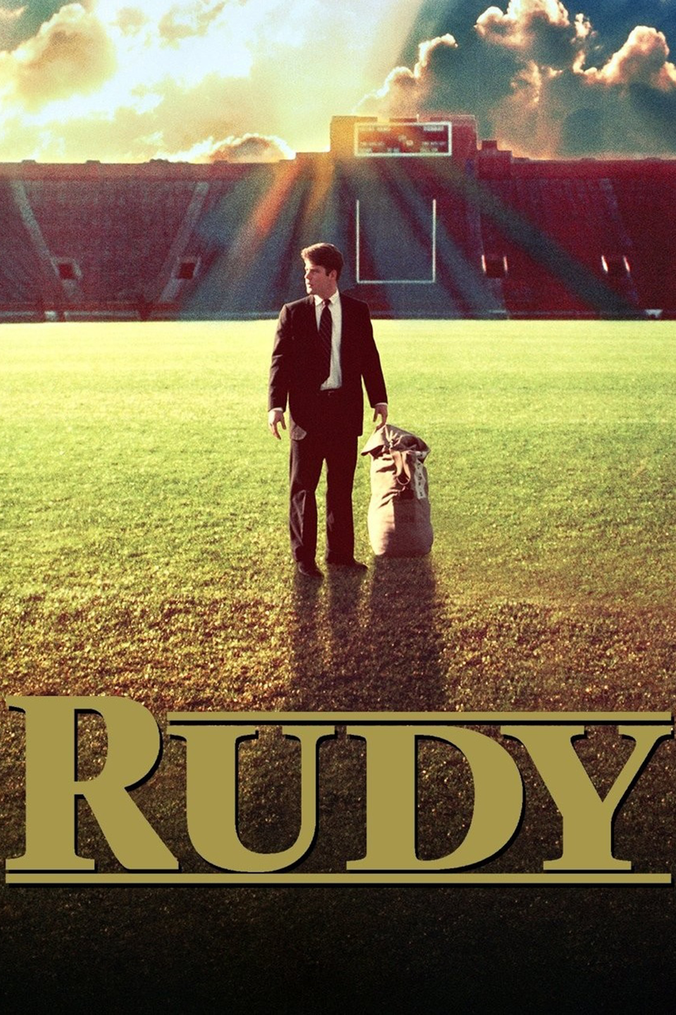 <p>One of those movies your dad is always trying to get you to watch, <em>Rudy </em>tells the true story of a guy who desperately wants to play football at Notre Dame. You will cry. Just let it happen.</p>